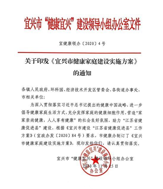 远东控股集团创始人蒋锡培荣获宜兴市首批示范健康家庭