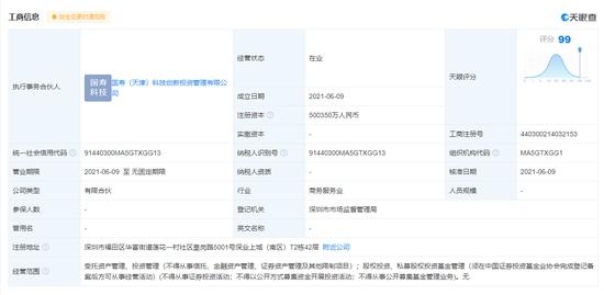 中国人寿参股成立科技创新私募股权投资基金合伙企业